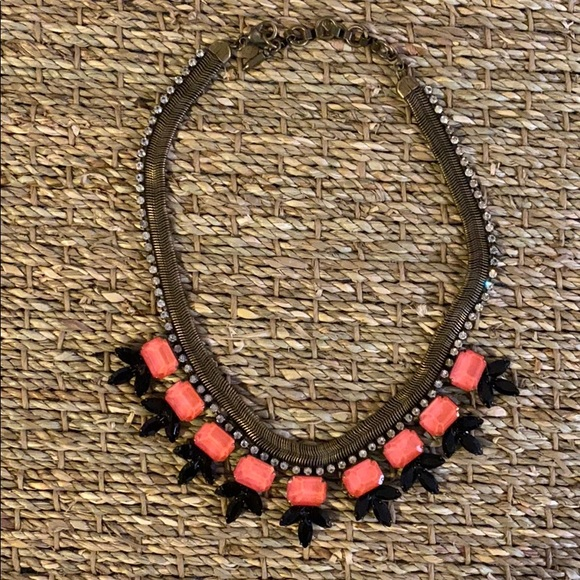 Loren Hope Pink and Black Statement Necklace